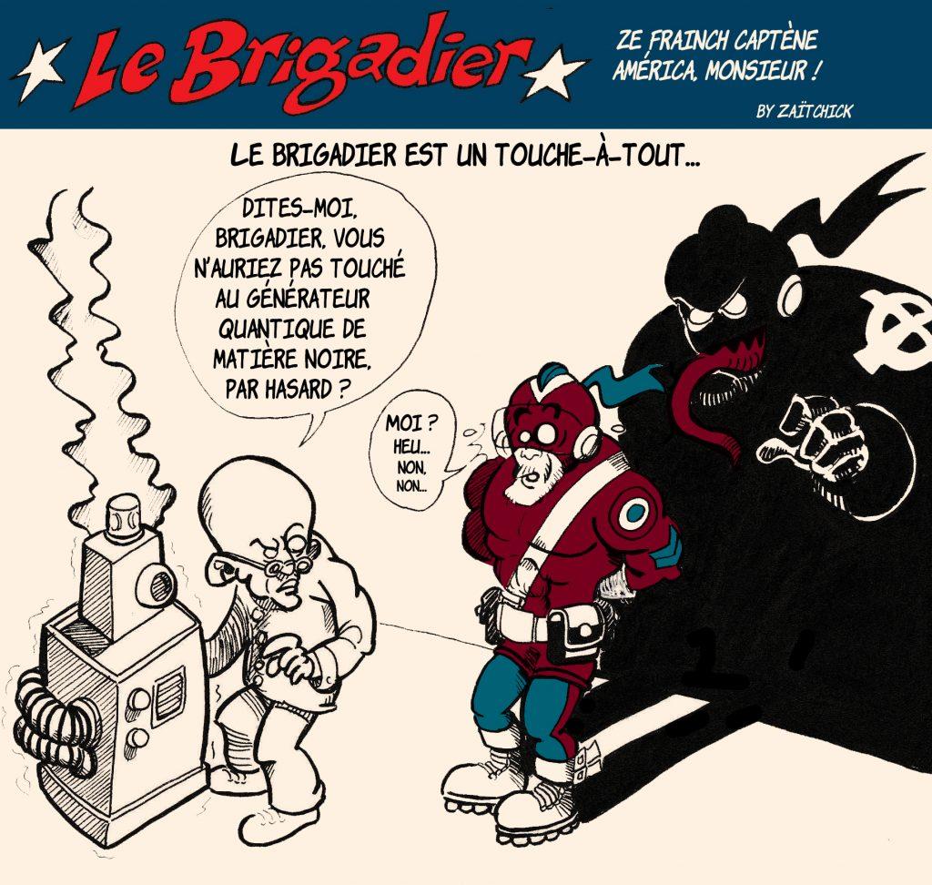 dessin humour police image drôle policier flic matière noire science scientifique