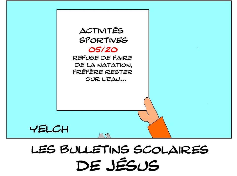 dessin de Yelch sur les bulletins scolaires de Jésus de Nazareth