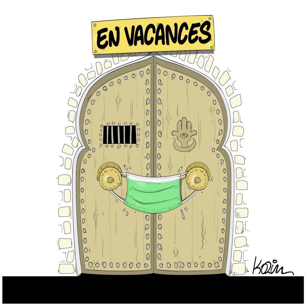 humour dessin Algérie humoristique image drôle coronavirus vacances d'été