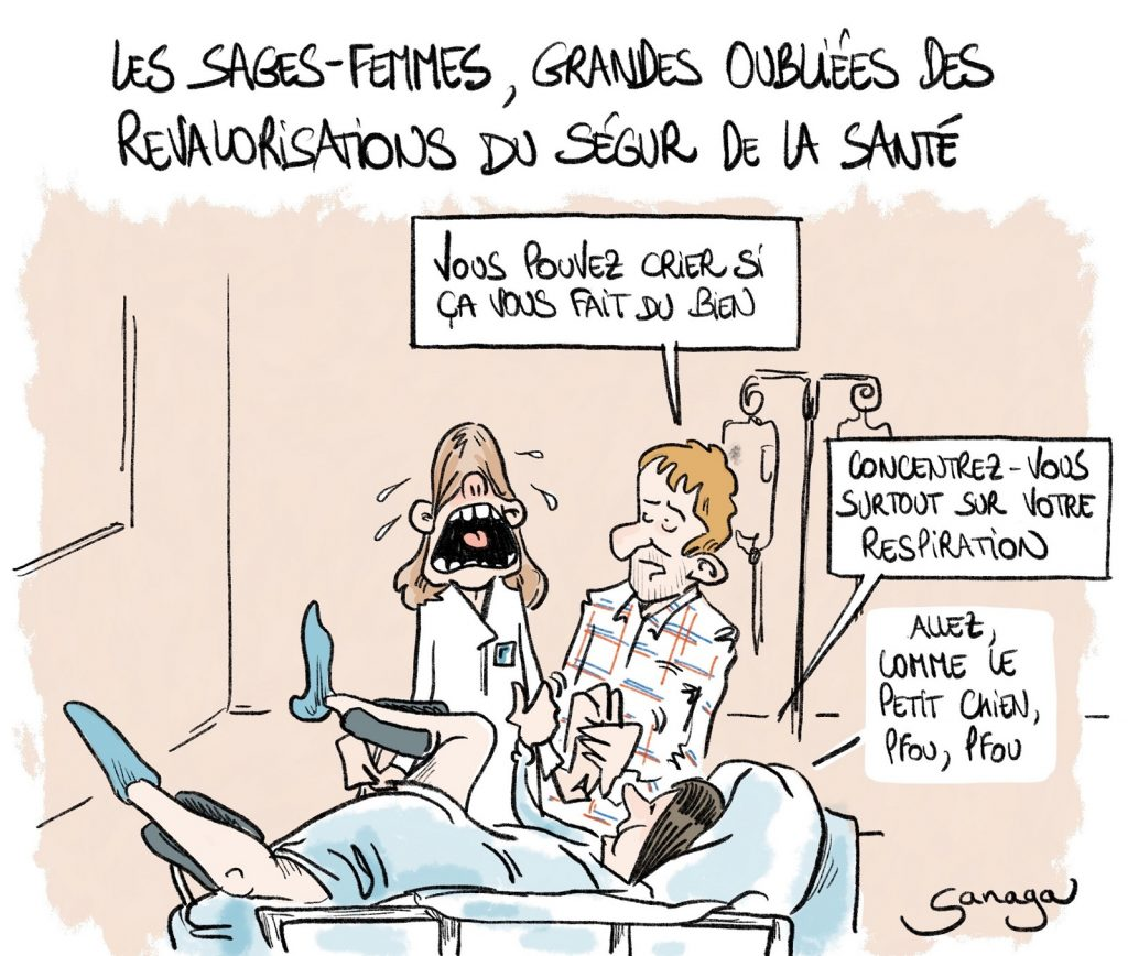 dessin presse humour coronavirus Ségur de la Santé image drôle sages-femmes