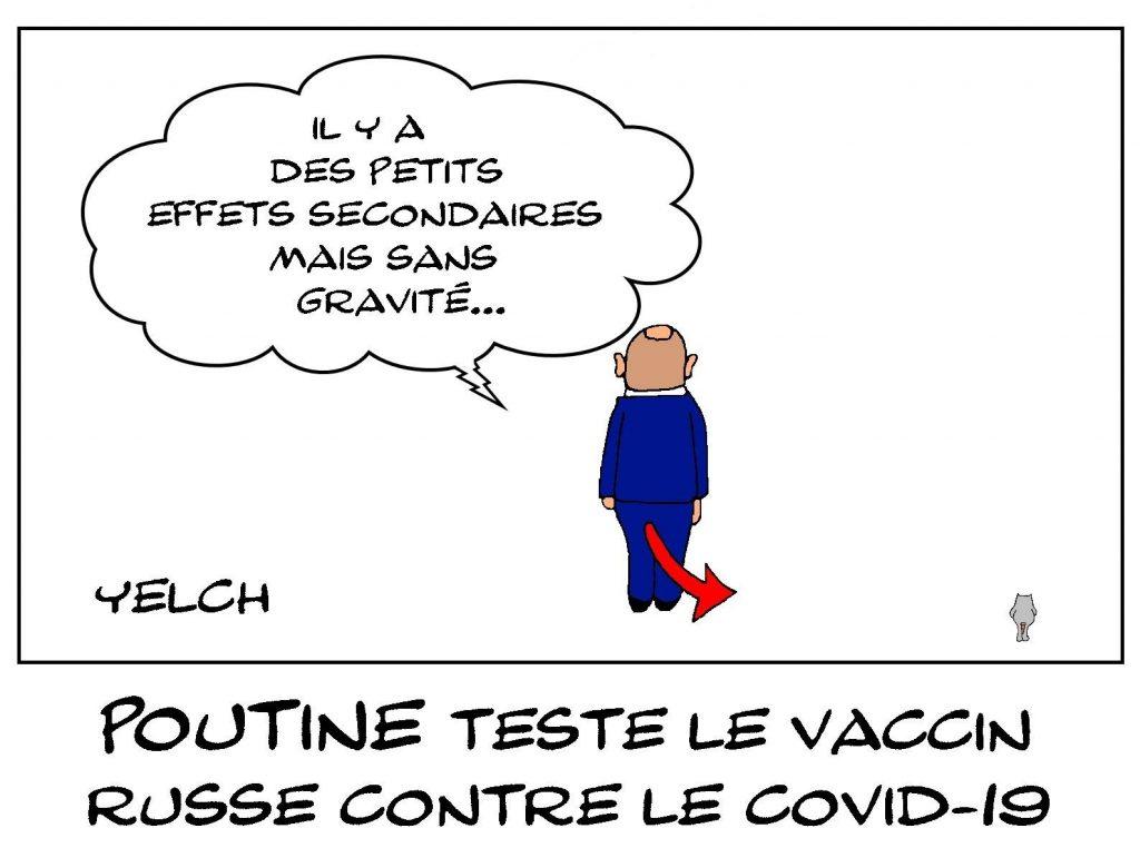 dessin presse humour vaccin coronavirus image drôle Russie Poutine