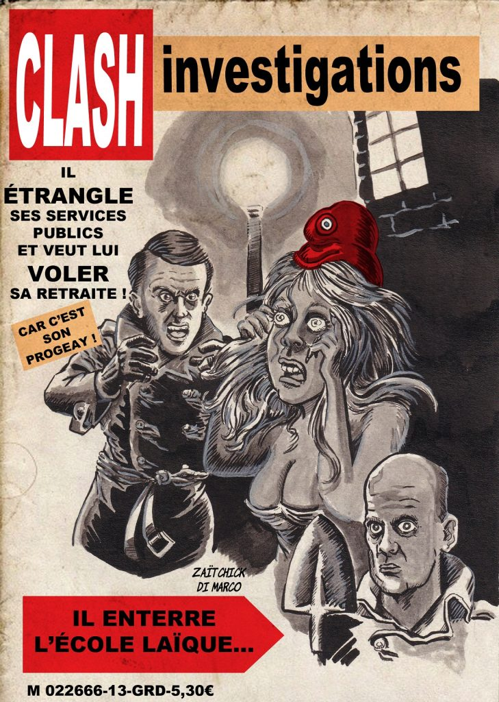dessin presse humour Emmanuel Macron image drôle Jean-Michel Blanquer