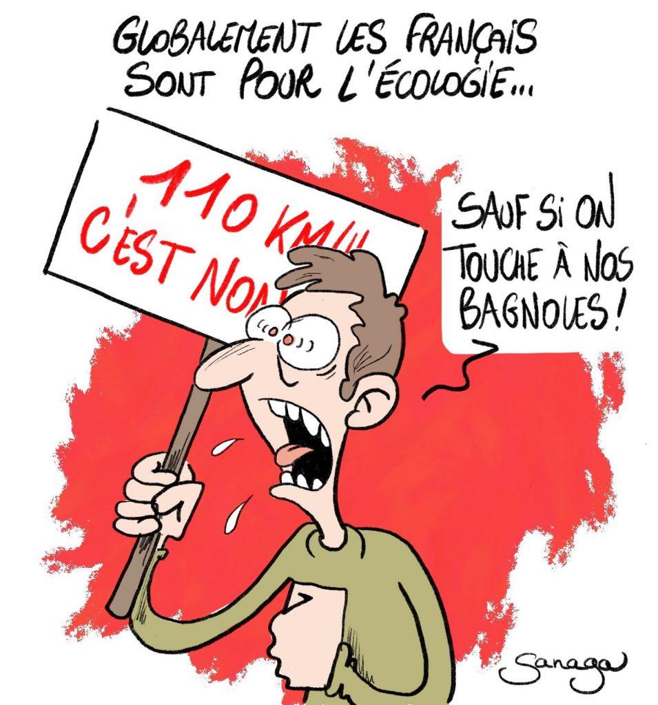 dessin presse humour français image drôle écologie voitures