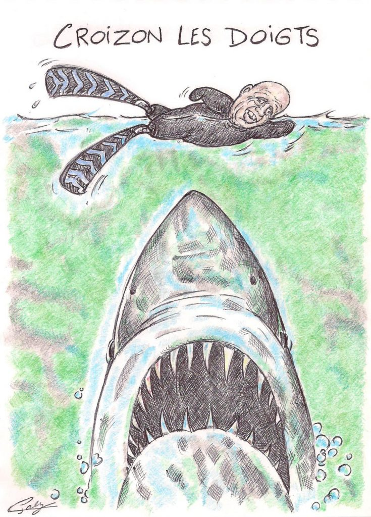 image drôle humour Philippe Croizon dessin rigolo Les Dents de la Mer requin
