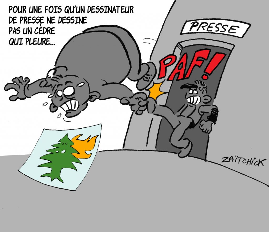 dessin presse humour Beyrouth image drôle Beirut explosion dessinateur
