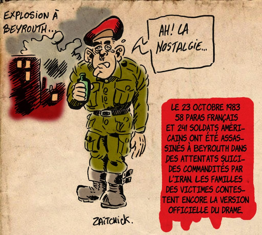 dessin presse humour Beyrouth image drôle 23 octobre 1983 attentat