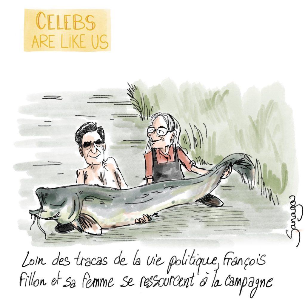 dessin presse humour François Fillon Penelope Fillon image drôle people actu stars célébrités