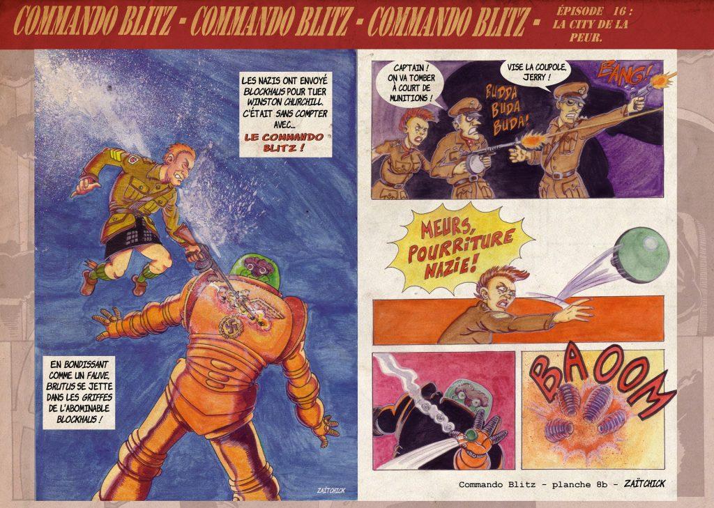 ALT : Commando Blitz BD bande dessinée nazi guerre mondiale robots science-fiction parodie