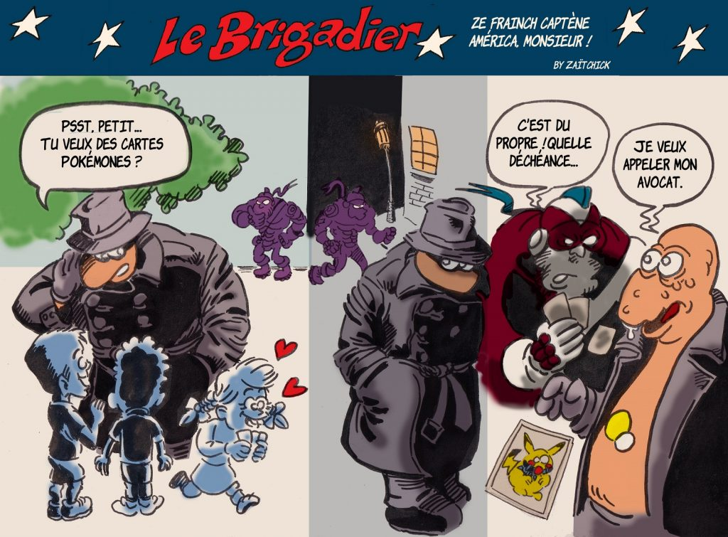image drôle pervers Pokémon dessin humour flic brigadier école enfants