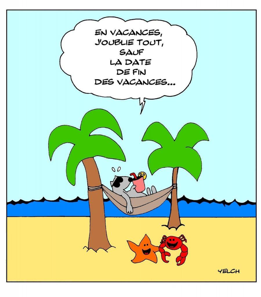 dessin presse humour vacances d'été image drôle fin des vacances