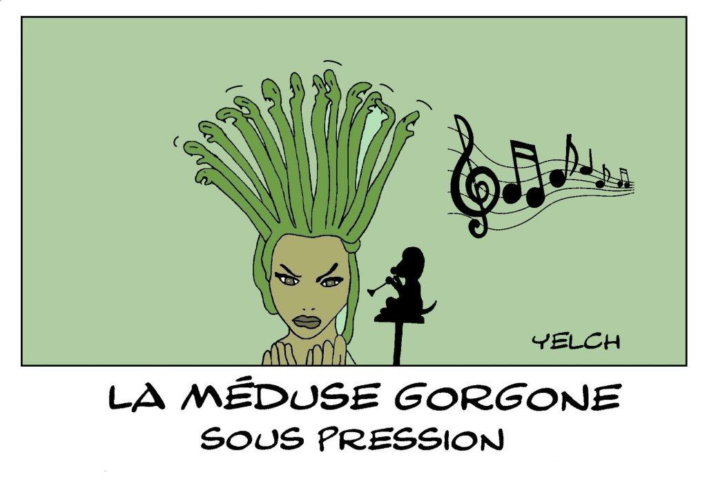 dessin presse humour Méduse image drôle Gorgone