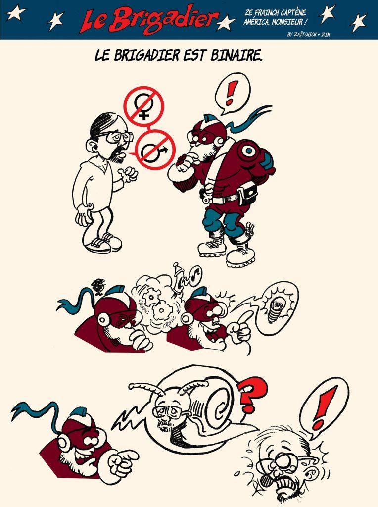image drôle genre dessin humour flic brigadier escargot