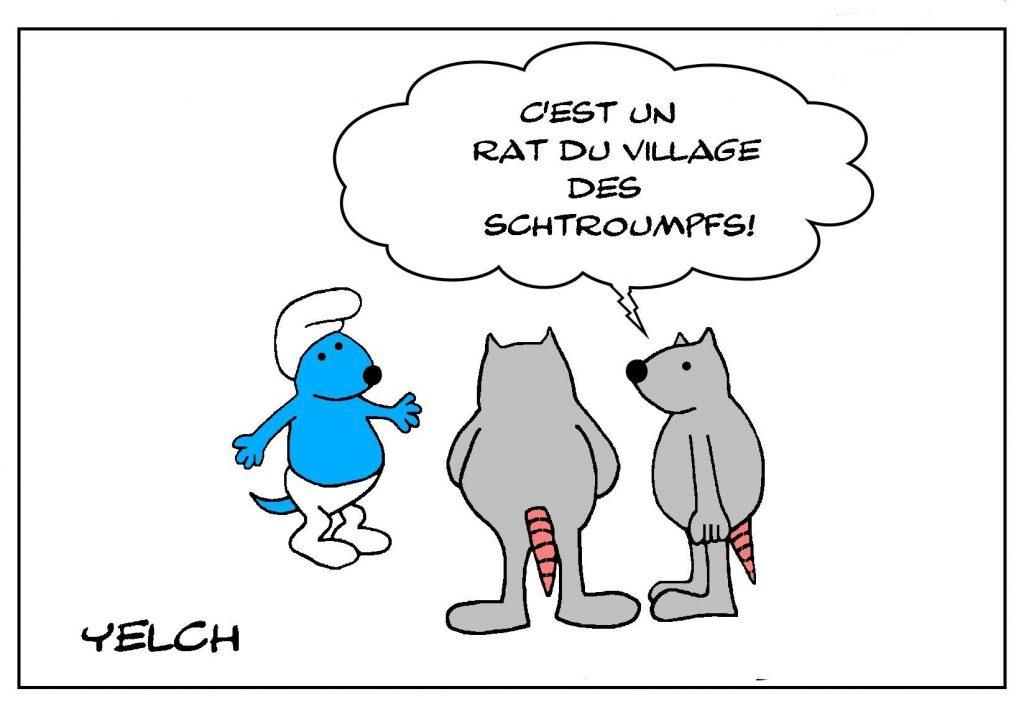blague dessin Peyo humour image drôle Schtroumpf