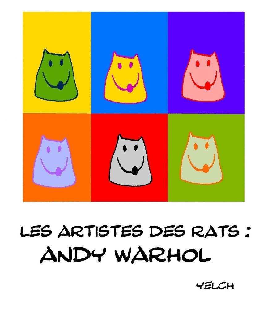 dessin humour Andy Warhol image drôle peinture