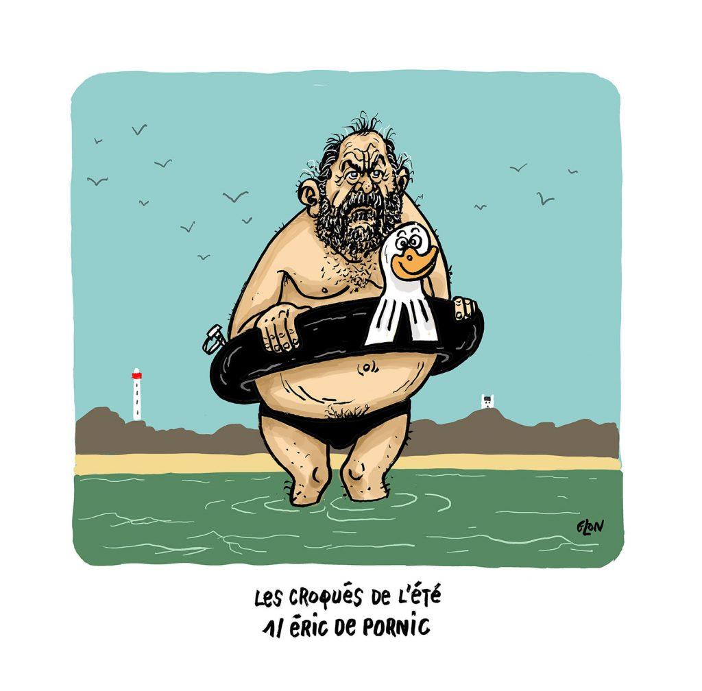 image drôle Éric Dupond-Moretti dessin humoristique actualité