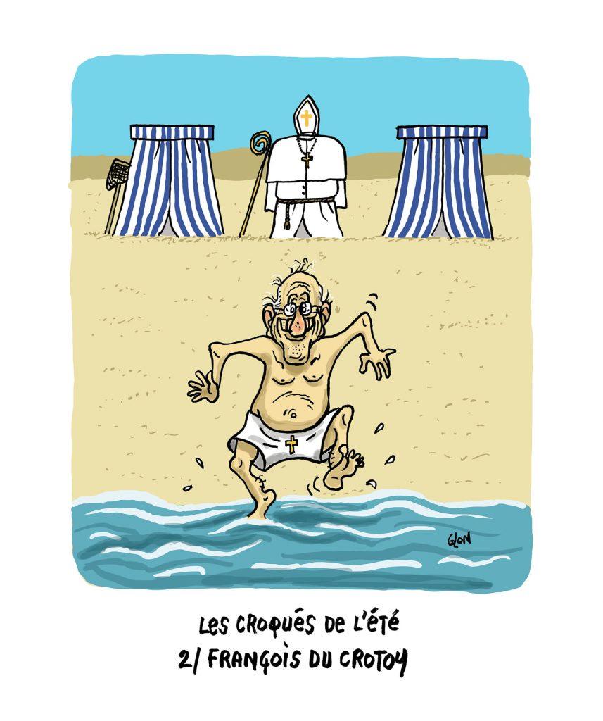image drôle Pape François dessin humoristique actualité Le Crotoy