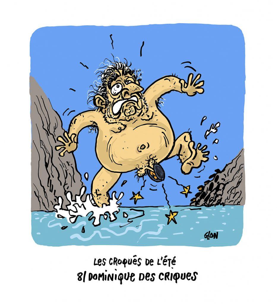 image drôle Dominique Strauss-Kahn dessin humoristique actualité vacances criques