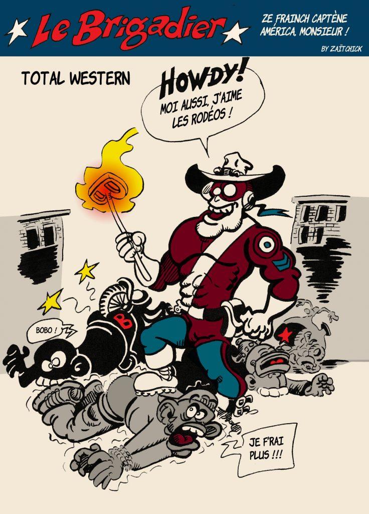 image drôle coronavirus dessin humour flic brigadier racailles rodéos urbains