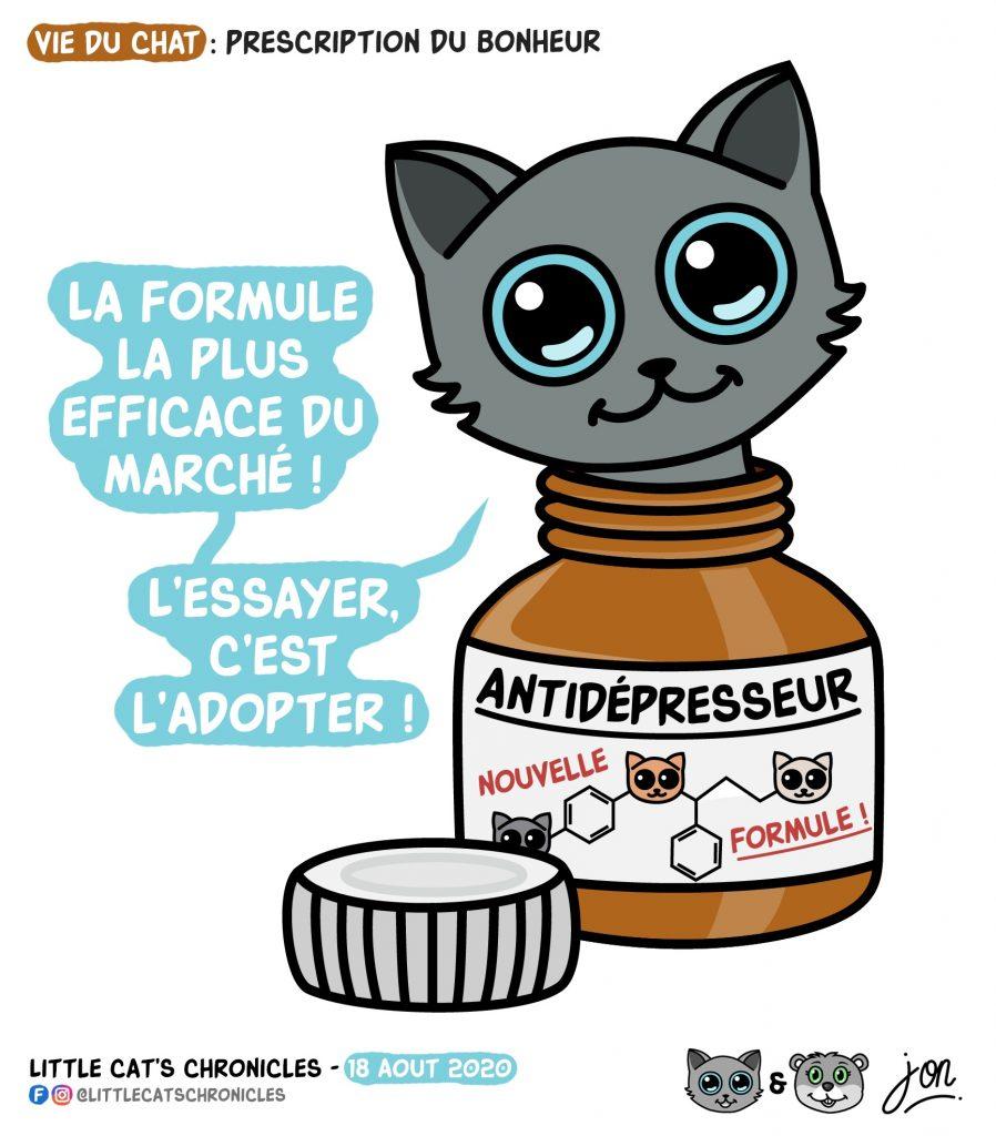 dessin humour image drôle humoristique little cat blague image drôle dépression antidépresseur