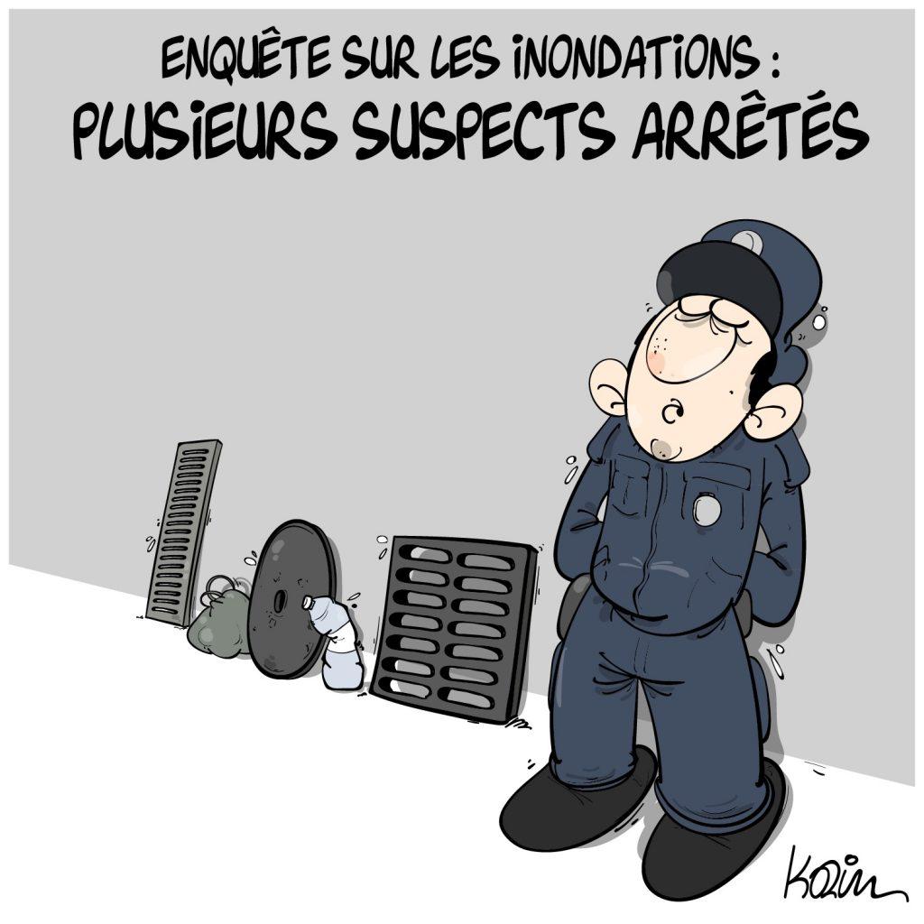humour dessin humoristique Algérie image drôle inondations enquête