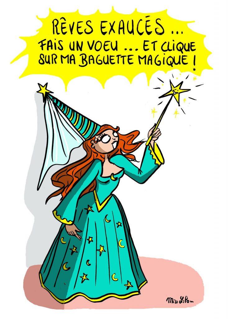 dessin presse humour magie fée image drôle vœux