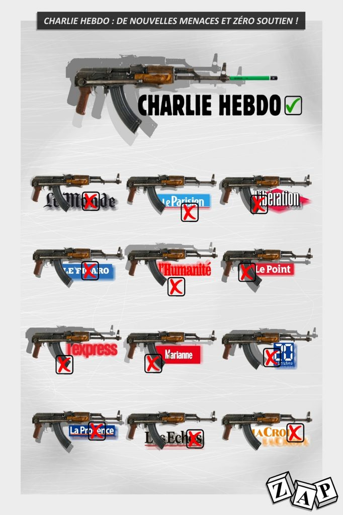 dessin presse humour attentat Charlie Hebdo image drôle menace Al-Qaïda