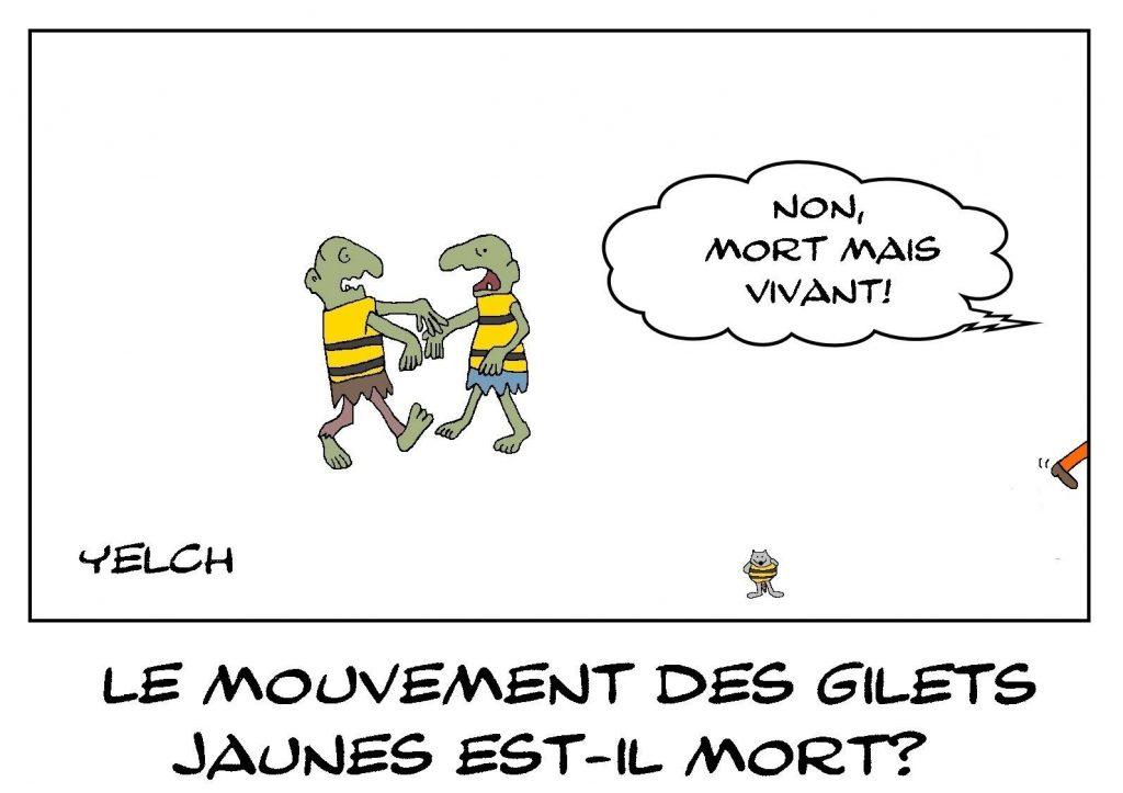 dessins humour politique du jour gilets jaunes image drôle zombies