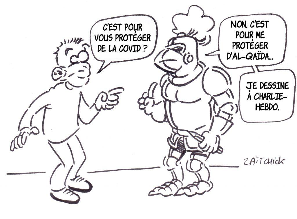 dessin presse humour je suis Charlie image drôle menace Al-Qaïda