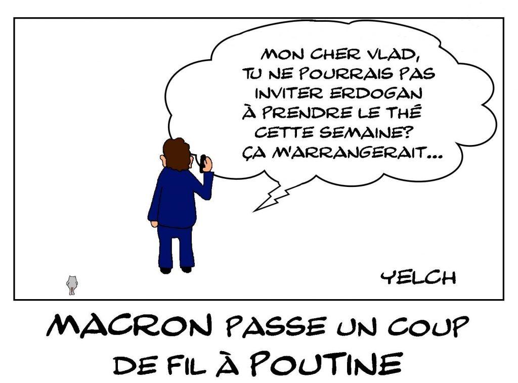 dessins humour Emmanuel Macron image drôle Erdogan Poutine