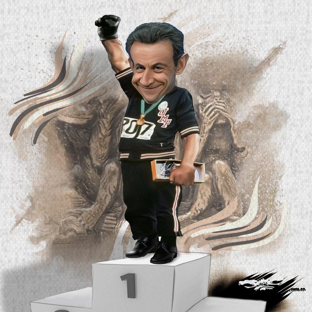 dessin presse humour Nicolas Sarkozy image drôle racisme nègres singes