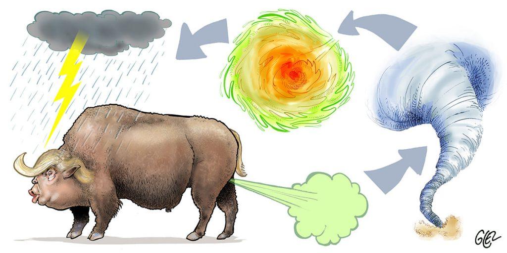 dessin presse humour Donald Trump image drôle réchauffement climatique