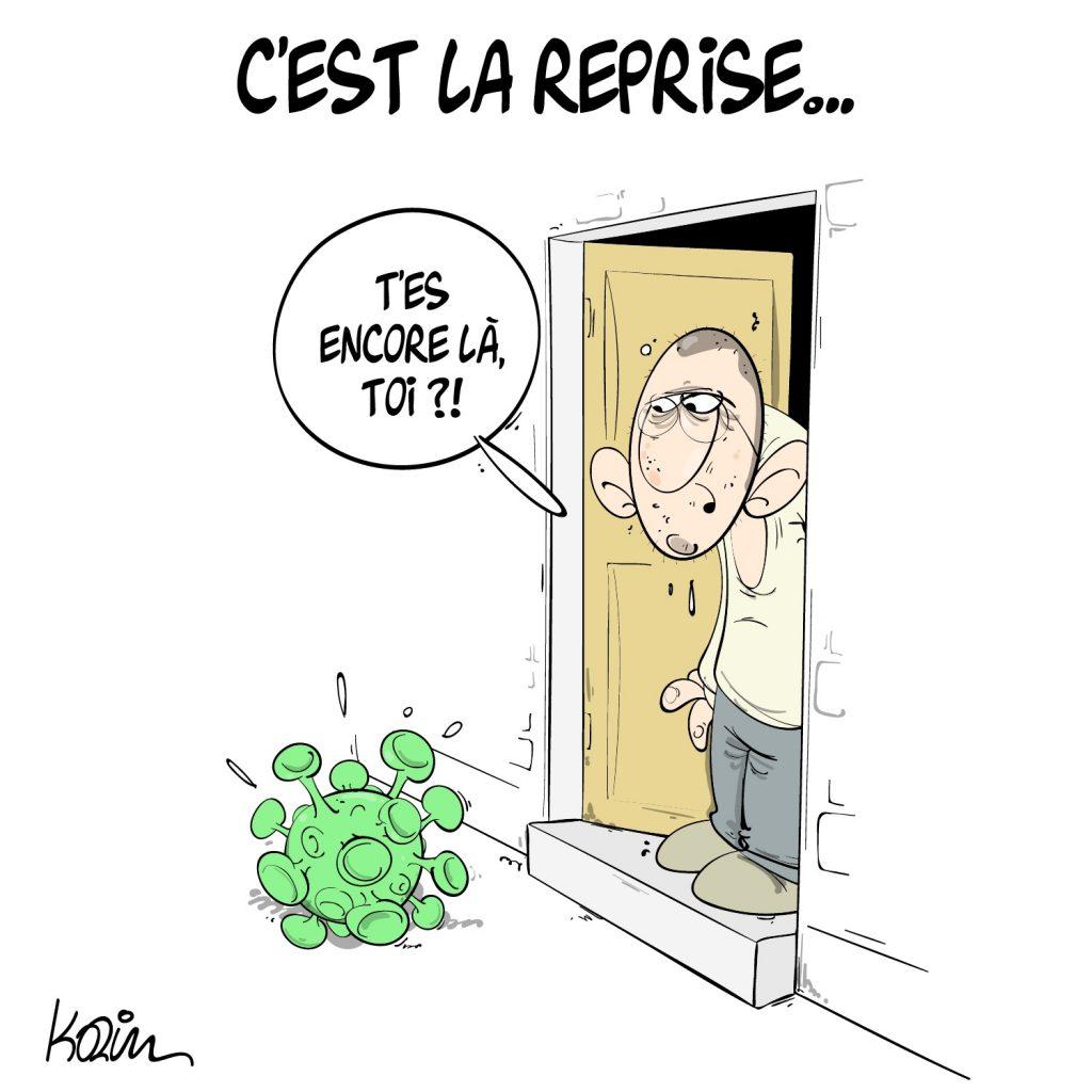 humour dessin Algérie retour coronavirus humoristique image drôle coronavirus vacances d'été