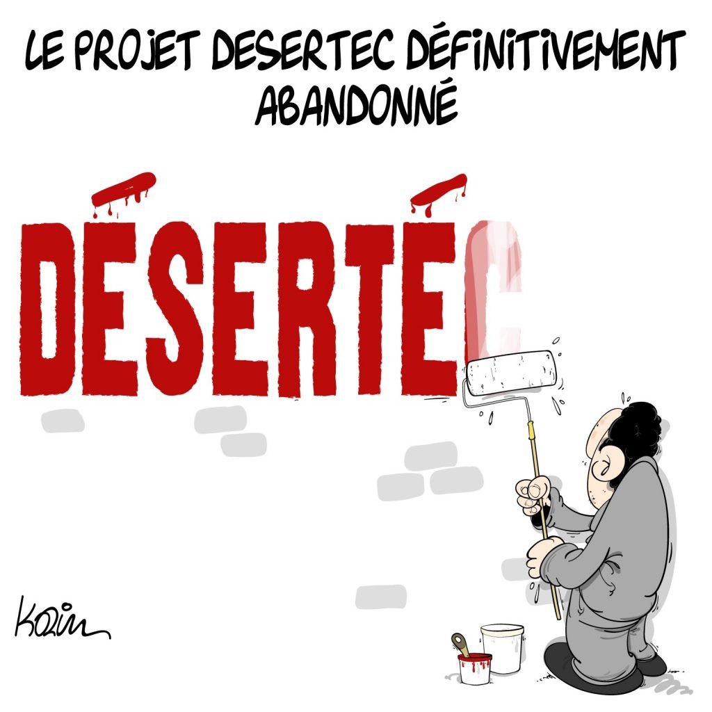 humour dessin Algérie humoristique image drôle projet Desertec