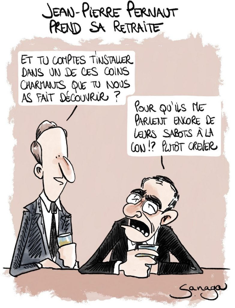 dessin presse humour Jean-Pierre Pernaut image drôle retraite