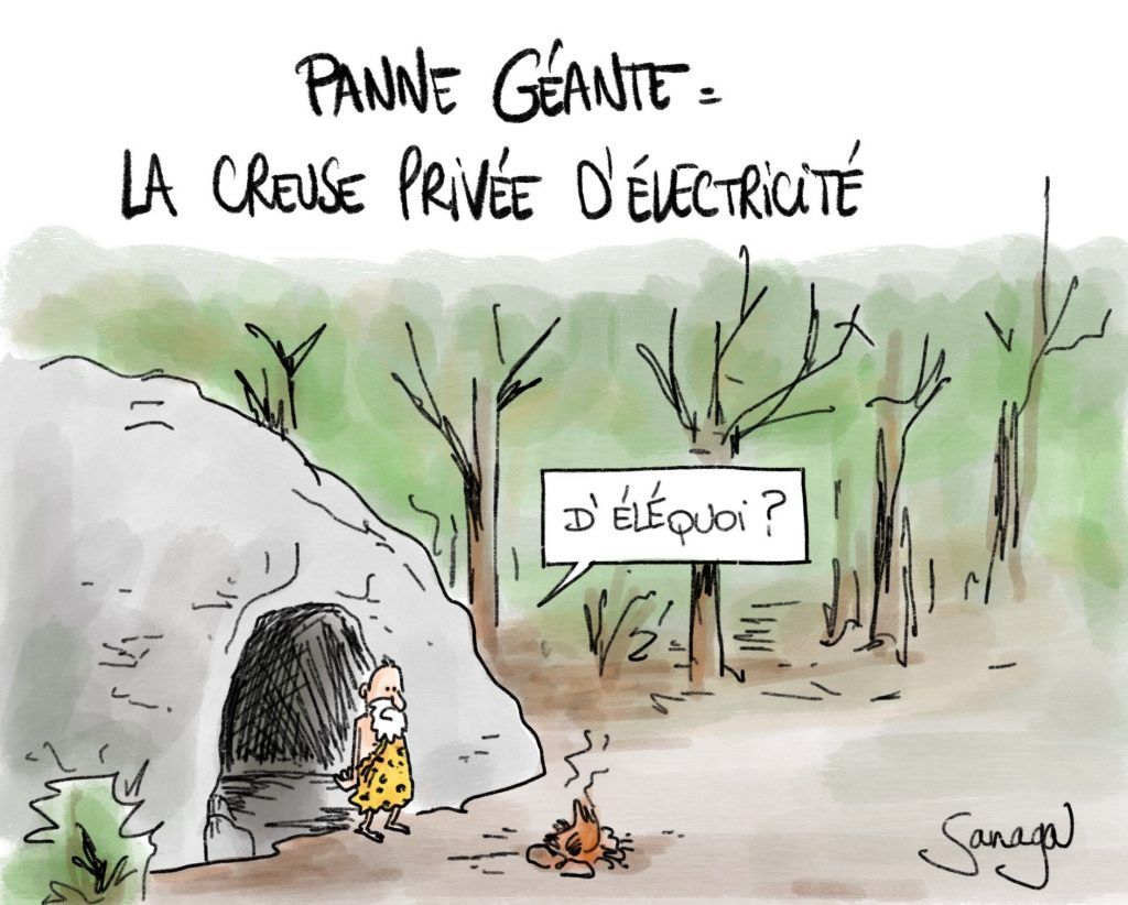 dessin presse humour Creuse creusois image drôle panne d'électricité