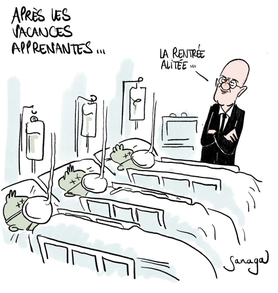 dessin presse humour coronavirus covid-19 image drôle Jean-Michel Blanquer rentrée