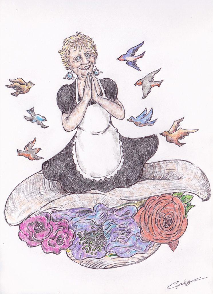 image drôle humour décès Annie Cordie dessin humour Tata Yoyo