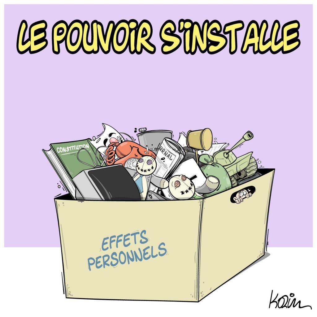 dessin presse humour Algérie image drôle pouvoir installation