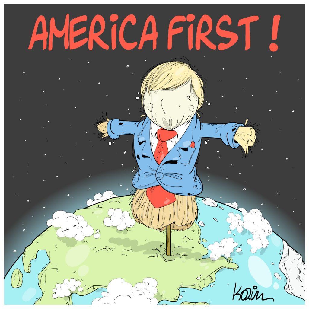 humour dessin humoristique États-Unis image drôle Donald Trump