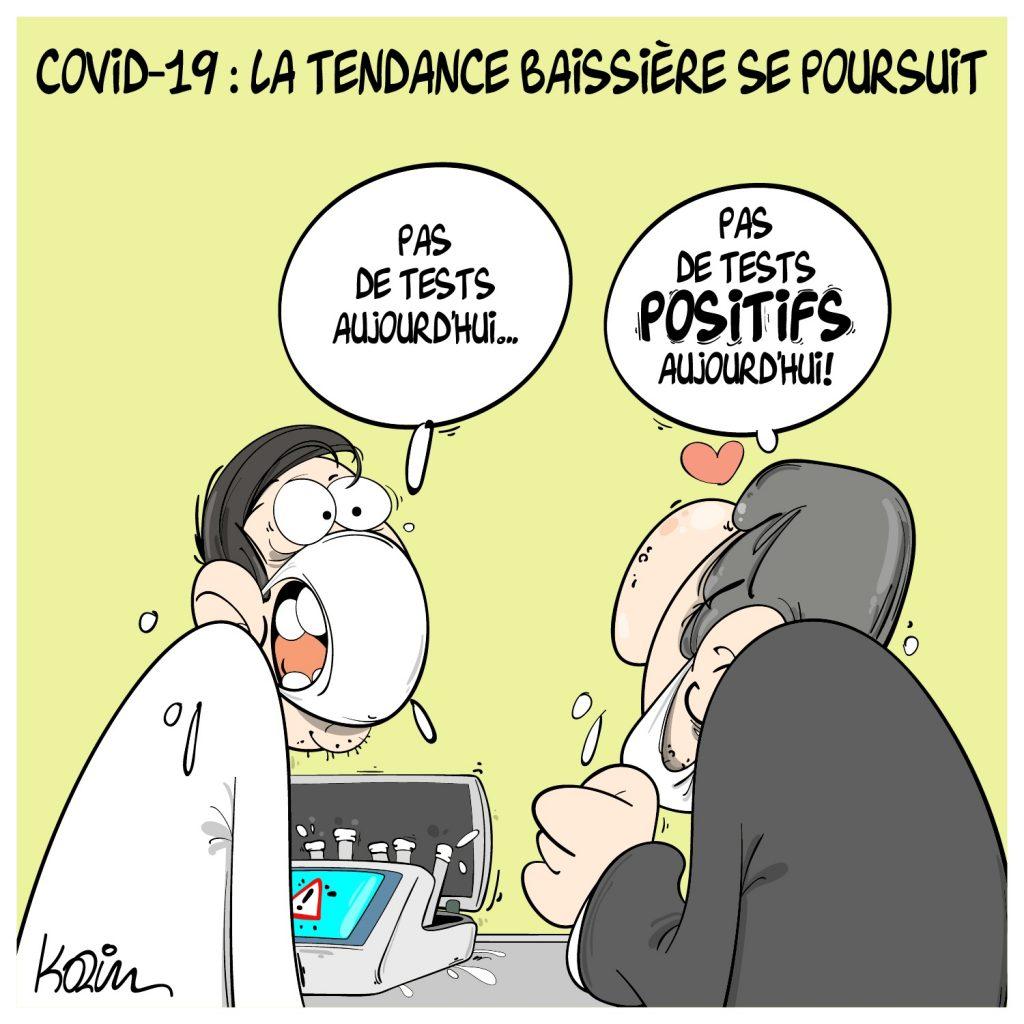 dessin presse humour Algérie coronavirus image drôle covid-19 tests pénurie