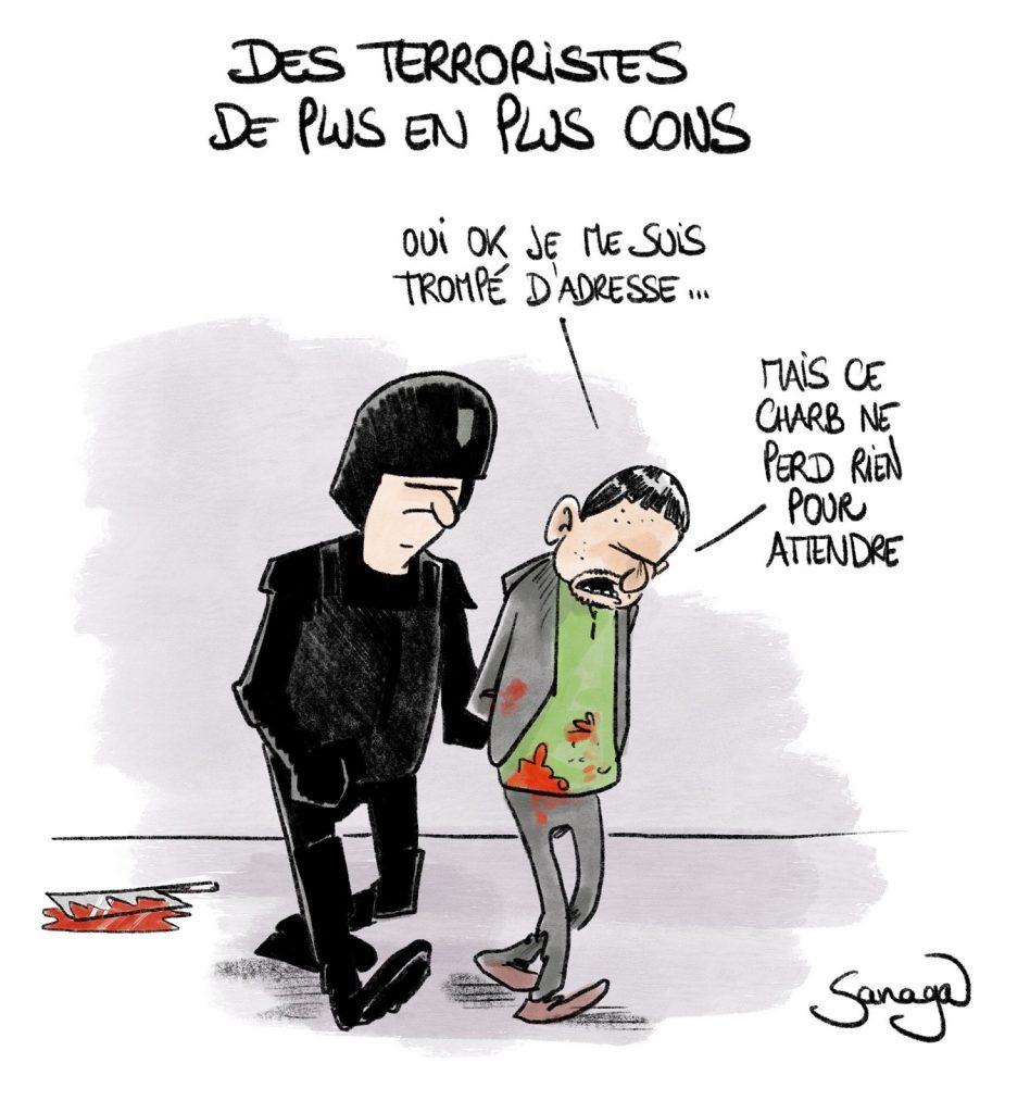 dessin presse humour nouvel attentat Charlie Hebdo image drôle terrorisme anciens locaux