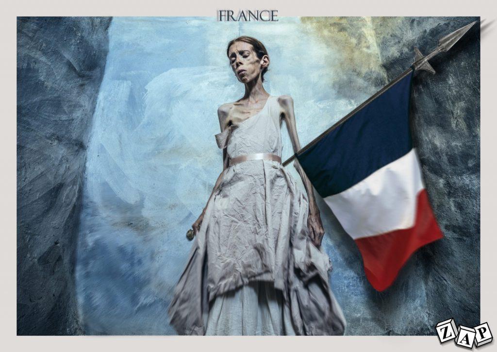 dessin presse humour état France décadence image drôle anoxerie