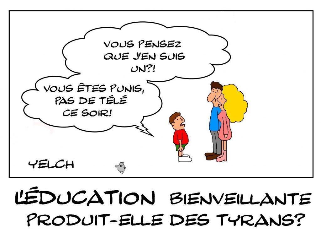 dessins humour éducation bienveillante image drôle enfants tyrans