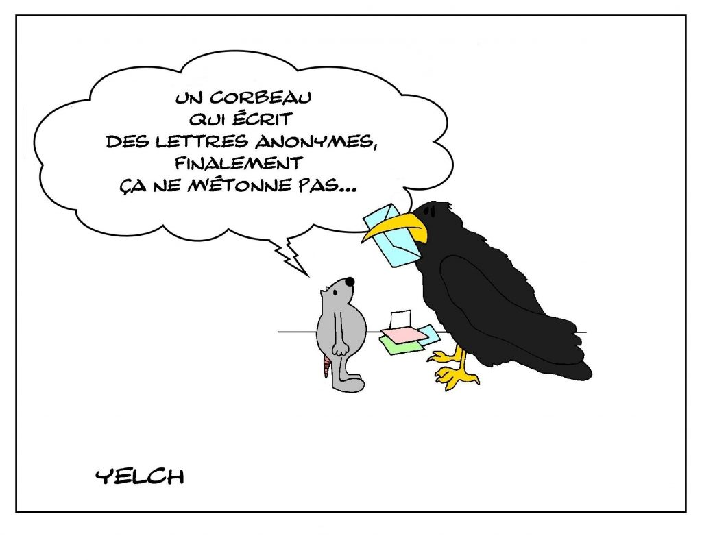 blague dessin corbeau humour homme image lettre anonyme