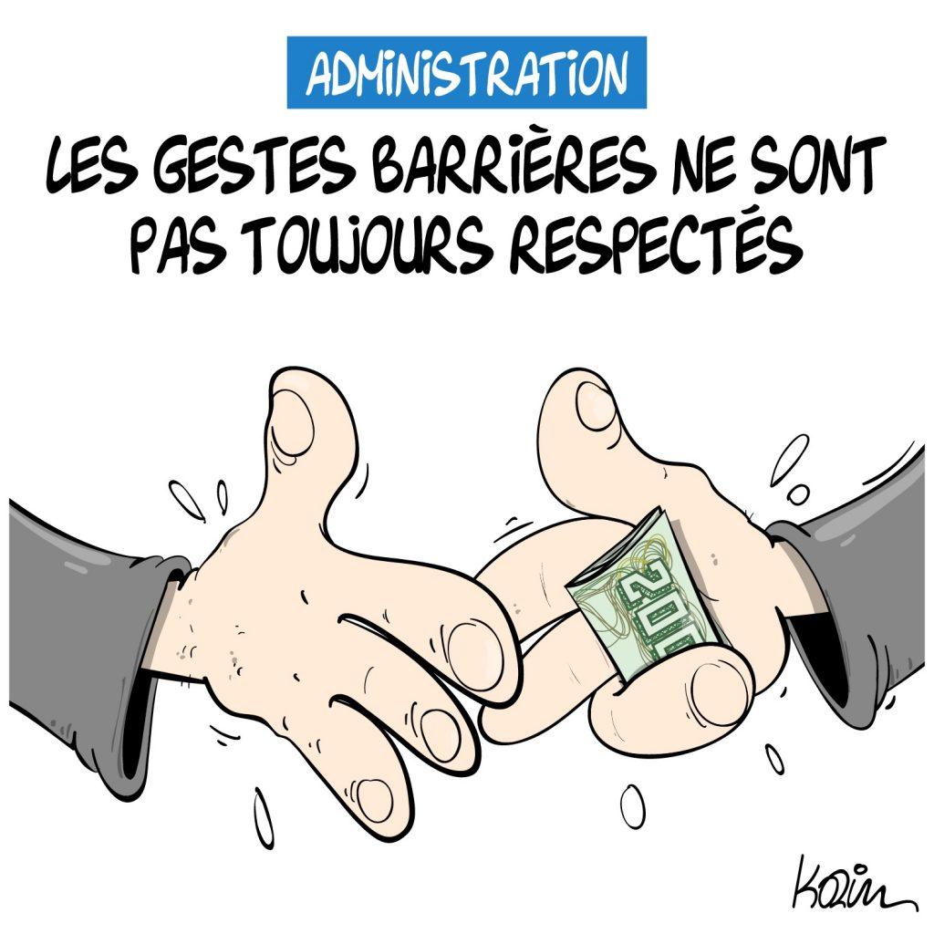 dessin presse humour Algérie image drôle administration corruption