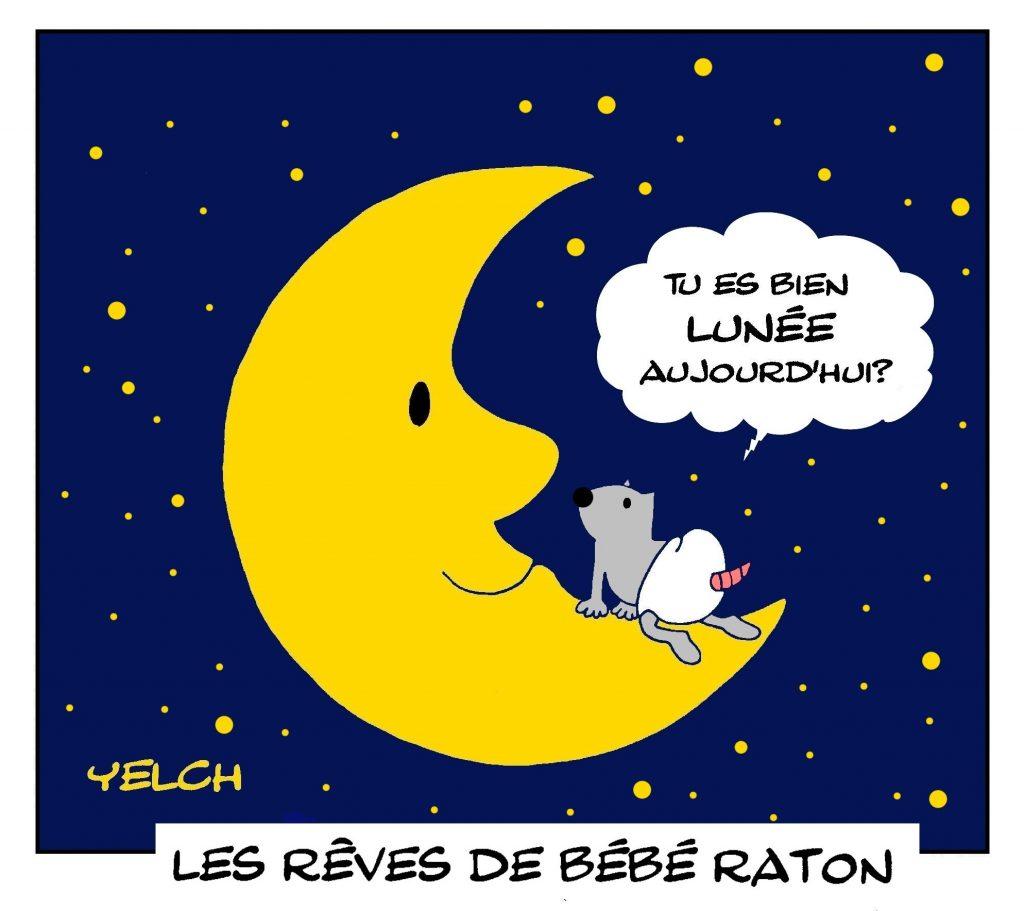 dessin presse humour raton image drôle Lune