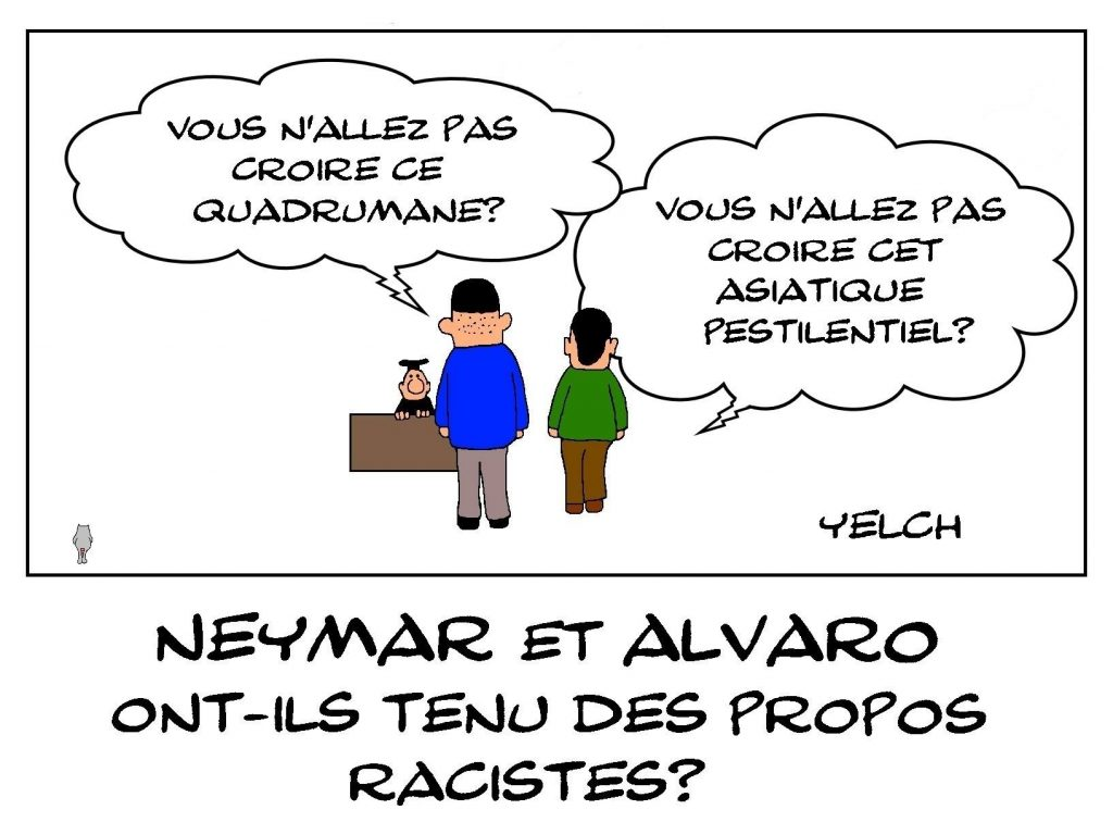 dessins humour football Alvaro Gonzalez image drôle Neymar insultes