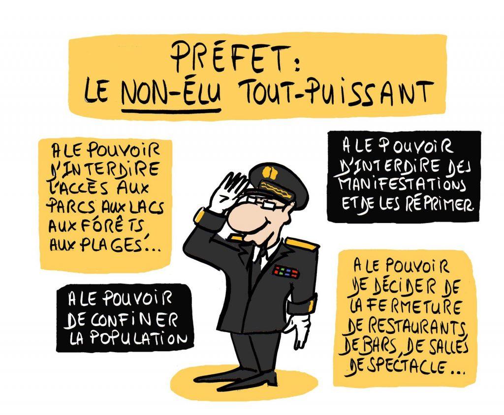 dessin presse humour préfet préfecture image drôle pouvoir non-élu