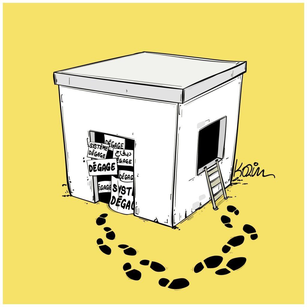 dessin presse humour Algérie image drôle système pouvoir dégage