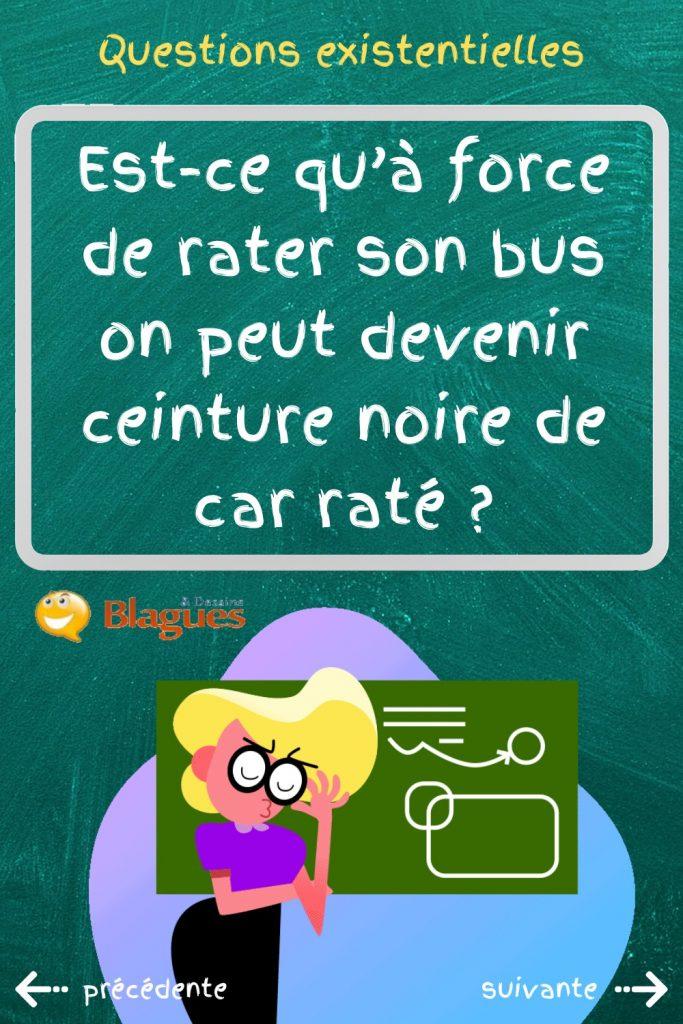 question existentielle karaté bus ceinture noire